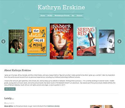 Kathryn Erskine - current site