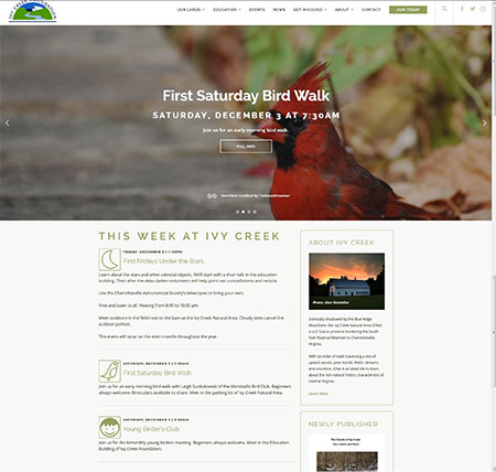 Ivy Creek Foundation - current site