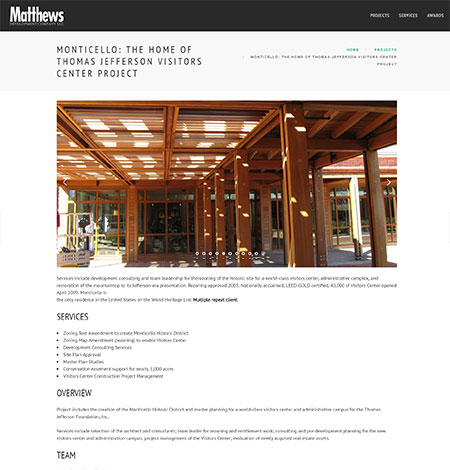 Matthews Development Company - current site